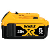 DeWalt Battery Packs, 5 A-h, 20 V, 1/EA, #DCB205
