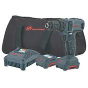 Ingersoll Rand IQV12 Series Drill/Driver Kits, 3/8 in Chuck, 205 in lb Torque, 1/EA, #D1130K2
