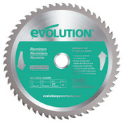 Evolution TCT Metal-Cutting Blades, 9 in, 1 in Arbor, 3,000 rpm, 48 Teeth, 1/EA, #230BLADEST