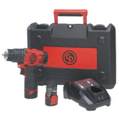Chicago Pneumatic Cordless Drill Driver Kit CP8528K, 1/16 in - 3/8 in Chuck, 288 in lb Torque, 1/EA, #8941085281
