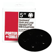 Porter Cable Hook and Loop Standard Profile Replacement Pads, 5 in, 1 per box, 1/EA, #13904