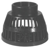 Dixon Valve Threaded Black Polyethylene Strainers, Strainer, 2 in Inlet, 10 EA, #TSS25