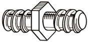 Ridge Tool Company Drain Cleaner Accessories, Coupling Key, 3/8 and 5/8 in, A-13, 1 EA, #59230