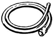 Ridge Tool Company Drain Cleaner 6 ft Rear Guide Hose, A-14, 1 EA, #59235