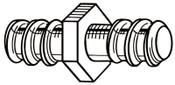 Ridge Tool Company Drain Cleaner Accessories, Female Rod Coupler, R2, 1 EA, #59555