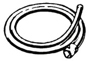 Ridge Tool Company Drain Cleaner Accessories, 12 ft Rear Guide Hose, K-60, 1 EA, #61615
