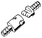Ridge Tool Company Drain Cleaner Accessories, 5/8 in Male Coupling, A6582, 1 EA, #92805
