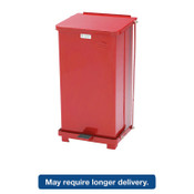 Newell Rubbermaid Defenders Biohazard Step Can, Square, Steel, 12gal, Red, 1/EA, #RCPST12EPLRD