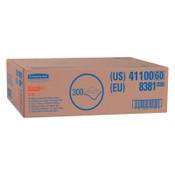 Kimberly-Clark Professional WypAll X70 Workhorse Rags, Flat Sheet, White, 300 per box, 1/BX, #41100