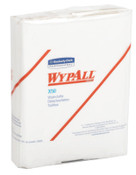 Kimberly-Clark Professional WypAll X50 Wipers, 1/4 Fold, White, 26 per pack, 1/CA, #35025