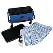 RUBBERMAID COMMERCIAL PROD. Microfiber Floor Finishing System, 27gal, Blue/Black/White, 1/EA, #RCPQ050