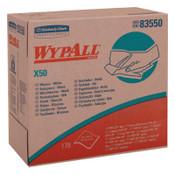 Kimberly-Clark Professional WypAll X50 Wipers, Pop-Up Box, White, 176 per box, 10/CA, #83550