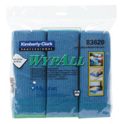 Kimberly-Clark Professional WypAll Microfiber Cloths, Blue, 4/CA, #83620