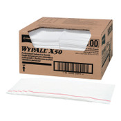 Kimberly-Clark Professional WypAll X50 Foodservice Towels, 1/4 Fold, 23 1/2 x 12 1/2, White, 1/CA, #6053