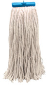 Boardwalk Cut-End Wet Mop Heads, Economical Lieflat Head, 24 oz, Cotton, 12/CA, #BWK724CCT