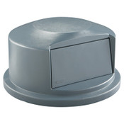 Newell Rubbermaid Brute Dome Tops, For 44 Gal. Brute Round Containers, 24 13/16 in, 1/EA, #264788GRAY