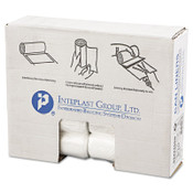 Inteplast Group Commercial Can Liners, 7 gal - 10 gal, 6 gauge, 24 X 24, Natural, 20/CA, #IBSS242406N