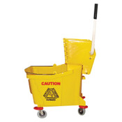 Magnolia Brush Plastic Mop Bucket with Wringer, 26 qt to 35 qt, Yellow, 1/EA, #60353