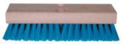 Magnolia Brush Deck Scrub Brushes, 10 in Hardwood, 1 3/4 in Trim L, XStiff Blue Crimped Poly, 12/EA, #610