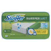 Procter & Gamble Swiffer Wet Refill Cloths, Open Window Fresh, Cloth, White, 8x10, 12/Tub, 144/CT, #PGC95531CT