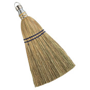 Anchor Products Whisk Broom, 12 in Trim L, 100% Broom Corn Fill, 12/EA, #98096