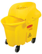 Newell Rubbermaid Brute Institutional Mop Bucket & Wringer, 35 qt, Yellow, 1/EA, #759088YEL
