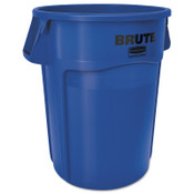 Newell Rubbermaid Brute Round Containers, 32 gal, Plastic, Blue, 1/EA, #263200BLUE
