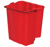 Newell Rubbermaid Dirty Water Bucket, 18 qt, Red, 1/EA, #9C7400RED
