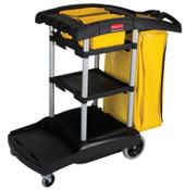 Newell Rubbermaid BLACK HIGH CAPACITY CLEANING CART, 1/EA, #9T7200BLA