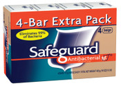 Procter & Gamble (PACK/4) SAFEGUARD BATH BAR 4 OZ, 12/CA, #PGC08833