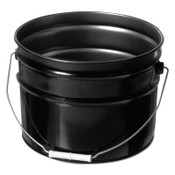 Freund Unlined Open Head Steel Pail, 3 1/2 Gallon, 10.9 in Cap, Black, 1/EA, #1175
