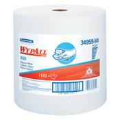 Kimberly-Clark Professional WypAll X60 Wipers, Jumbo Roll, White, 1,100 per roll, 1/RL, #34955