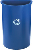 Newell Rubbermaid Untouchable Recycling Containers, 21 gal, Blue, 1/EA, #352073BLUE
