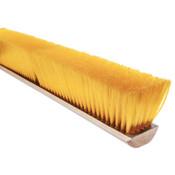 Magnolia Brush No. 19 Line Floor Brushes, 18 in Hardwood Block, 3 in Trim L, Yellow Plastic, 1/EA, #1918