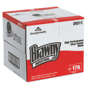Georgia-Pacific Brawny Heavy Weight HEF Disposable Shop Towels, 9 x 16 4/5, White, 1/CT, #GPC29311