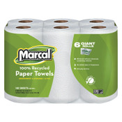 MARCAL PAPER 100% Recycled Roll Towels, 5 1/2 x 11, 140/Roll, 4/PK, #MRC6181PK