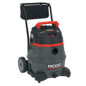 Ridge Tool Company 2-Stage Wet/Dry Vacuums, 14 gal, 6.5 hp, W/Hose/(6) Attachments/Diffuser/Filter, 1/EA, #50358