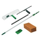 Unger Pro Window Cleaning Kit w/8ft Pole, Scrubber, Squeegee, Scraper, Sponge, 1/KT, #UNGPWK00