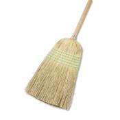 Boardwalk Parlor Broom, Yucca/Corn Fiber Bristles, 56 in, Wood Handle, Natural, 12/EA, #BWK926YCT