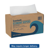 Boardwalk TAD Wipers, 1-Ply, White, 9 x 12 3/4, 1/CT, #BWKE010IDW