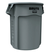 Newell Rubbermaid Brute Round Containers, 55 gal, Plastic, Gray, 1/EA, #265500GRAY