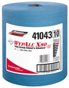 Kimberly-Clark Professional WypAll X80 Towels, Jumbo Roll, Blue, 475 per roll, 1/RL, #41043