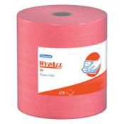 Kimberly-Clark Professional WypAll X80 Towels, Jumbo Roll, Red Hot, 475 per roll, 1/RL, #41055