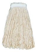 Boardwalk Cut-End Wet Mop Heads, Premium Standard Head, 24 oz, Cotton; Polyester Headband, 12/CA, #BWK224CCT