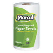 MARCAL PAPER 100% Recycled Roll Towels, 8 3/4 x 11, 210 Sheets, 12/CT, #MRC6210