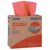 Kimberly-Clark Professional WypAll X80 Towels, Pop-Up Box, Red Hot, 80 per box, 5/CA, #5930