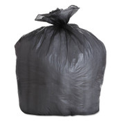 Boardwalk High-Density Can Liner, 43x47, 56gal, 19 Mic Equiv., Black, 25 Bags/Roll, 150/CA, #BWK434722BLK