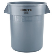 Newell Rubbermaid Brute Round Containers, 20 gal, Plastic, Gray, 1/EA, #262000GRAY