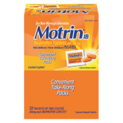 Motrin Ibuprofen Tablets, Two-Pack, 1/BX, #MCL48152