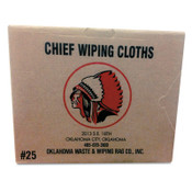 Oklahoma Waste & Wiping Rag Knit T-Shirt Polo Cotton Wiping Rags, White, 25 lb Box, 25/CTN, #10125